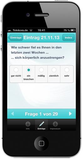 App für Patient-Reported-Outcome | MS-Studien-App