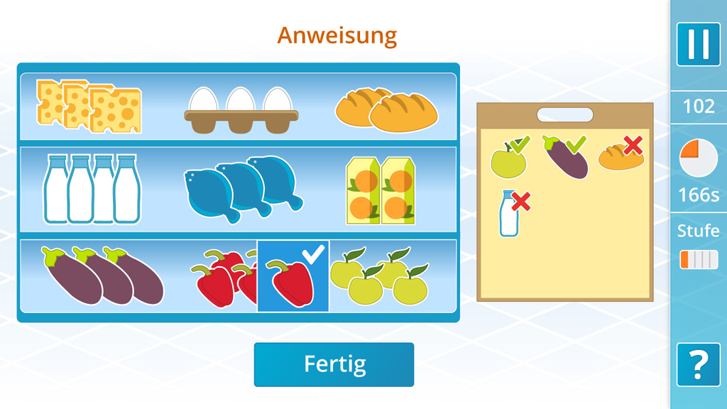 App, Internet-Applikation   Kognitive Übung: Störenfried