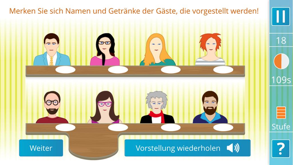 App, Internet-Applikation   Kognitive Übung: Wer war's?